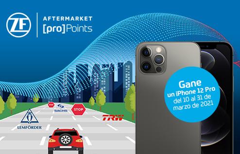 ZF Aftermarket campaña marzo 2021 obsequios iPhone 12 Pro y puntosZF [pro]Points