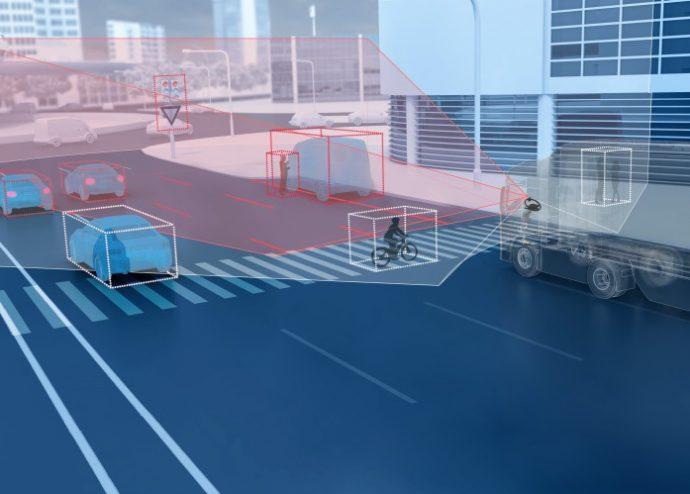 ZF cámara dual de doble lente para vehículos comerciales